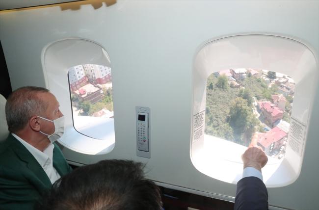Cumhurbaşkanı Erdoğan sel felaketinin yaşandığı Giresun'da